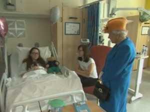 Queen visits injured