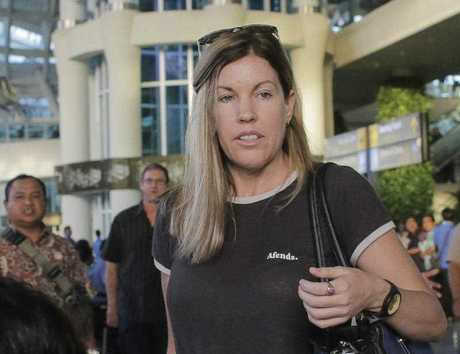 Mercedes Corby arrives at the International Airport in Bali, on Friday, May 12, 2017. Schapelle Corby's sister Mercedes has arrived in Bali to offer support to her sibling in the lead-up to her deportation to Australia later this month.