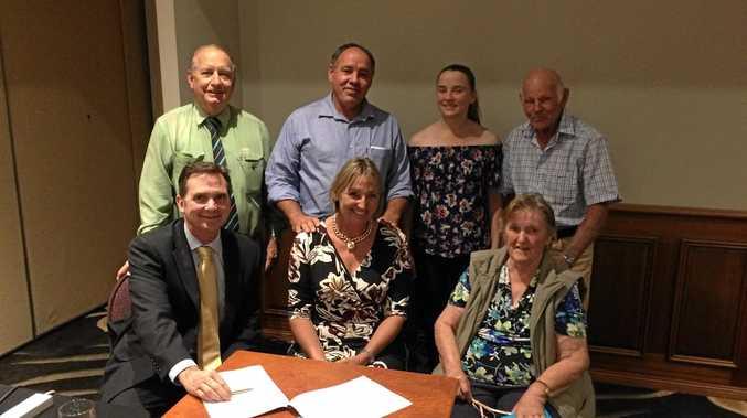 BIG BUY: The Howard family handed over Yaamba's historic Balmoral property to the Harvey family on Thursday.