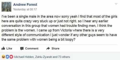 Single man flamed on social media after labelling Byron Bay women 'loopy'.