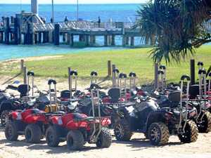 QUAD BIKING ON TANGALOOMA