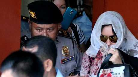 Schapelle Corby leaves the Prosecutors office in Denpasar a free woman. Picture: Nathan EdwardsSource:News Corp Australia
