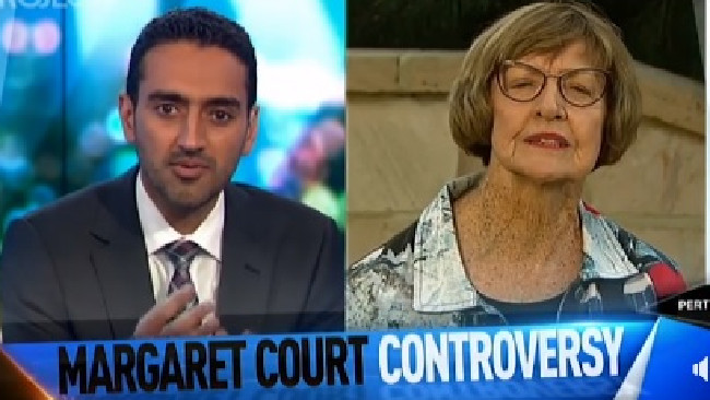 Margaret Court on The Project with host Waleed Aly.