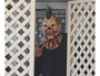 Bizarre scenes at Schapelle Corby's mum's house where family and friends are wearing masks.