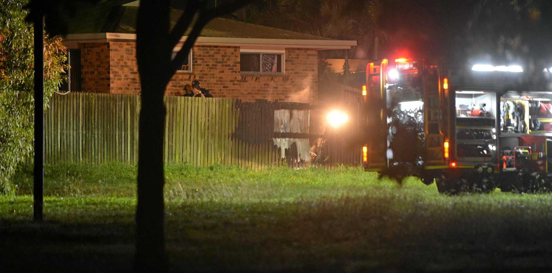 Fire at home in North Bundaberg Saturday night.