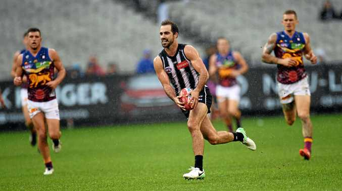 Steele Sidebottom starred for the Magpies