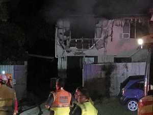 Fire destroys Mackay home, street closed