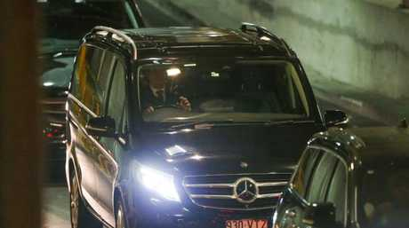 Schapelle Corby's convoy leaves Brisbane International Airport. Picture: Nigel HallettSource:News Corp Australia