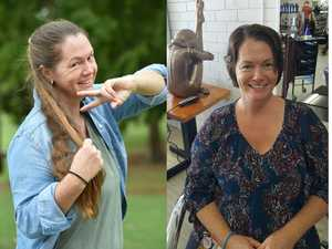 HEARTY CAUSE: Dani-Lee Kershaw from Bauple is cutting her hair to be turned into a wig.