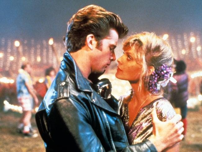 Maxwell Caulfield and Michelle Pfeiffer in the 1982 musical movie.