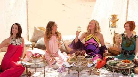 Kristin Davis, Sarah Jessica Parker, Kim Cattrall and Cynthia Nixon starred in Sex and the City 2.