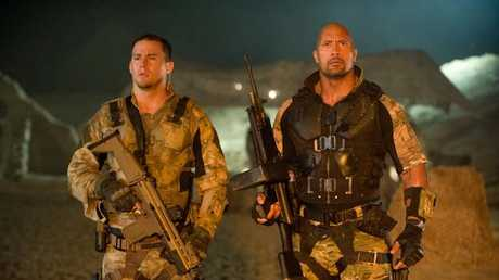 Channing Tatum and Dwayne Johnson in G.I Joe.