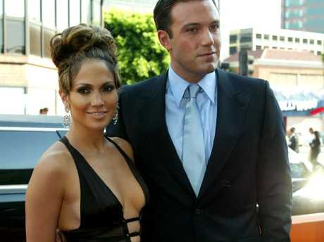 Jennifer Lopez and Ben Affleck attend the premiere for Gigli in 2003.