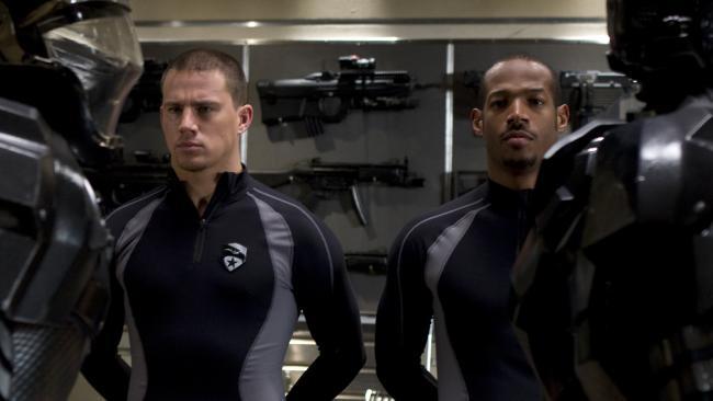 Channing Tatum and Marlon Wayans in a scene from GI Joe: The Rise of Cobra.