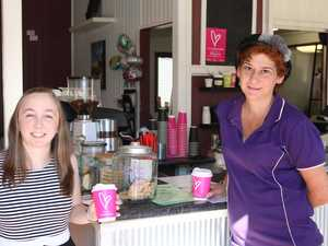 BreastScreen health promotion officer Nicola Garrett (left) and Rebecca Edwards from Abbey's Cottage Cafe.