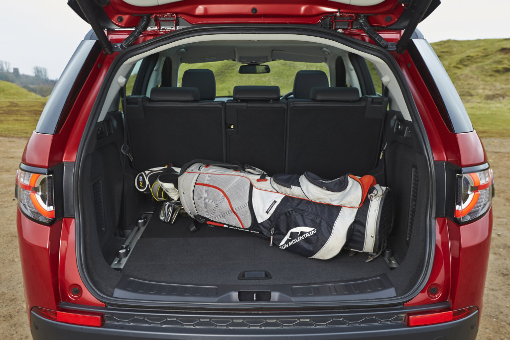 The Land Rover Discovery Sport can be optioned with seven seats.