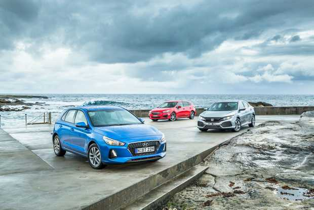 Triple test Hyundai i30 vs Honda Civic vs Subaru Impreza