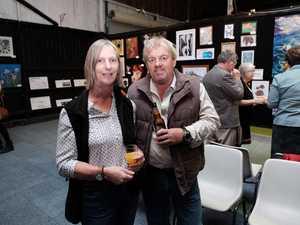 Kim and Wayne Osburn at That Night for Art at the