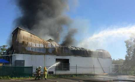 The Maroochydore Beach Gymnastics Club has been destroyed by fire.