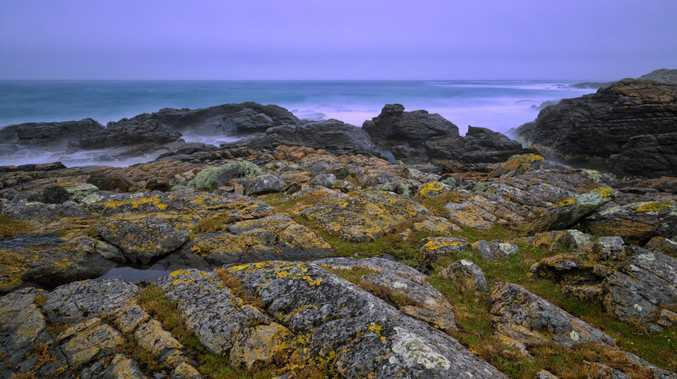 The rocky shoreline of King Island.