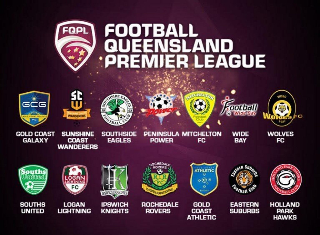 The 14 teams who will form the second tier of state football in Queensland, the QPL. None are from Toowoomba or the Darling Downs region.