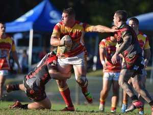 Coffs Harbour Comets prop Matt Cheeseman looks for a