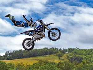 Boonah motocross dare devil Callum Shaw shows off his death-defying skills, which will be on display at this year's show.