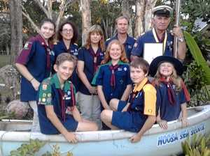 SAILING AHEAD: After 30 years of helping develop Noosa Sea Scouts, Len Barty still going strong.