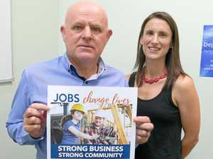 CHESS CEO Paul Kelly and Headspace Coffs Harbour manager Shelley Rowe.