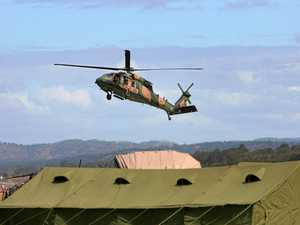 An Australian Army blackhawk helicopter comes in to land at Camp Rocky during Exercise Talisman Sabre.   Photo: Chris Ison / The Morning Bulletin