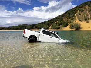 'Traumatised': Young family's 4WD plunges into deep water