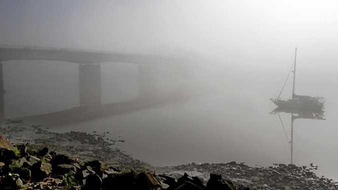 Fog on the Fitzroy river on Monday morning. Photo Allan Reinikka / The Morning Bulletin