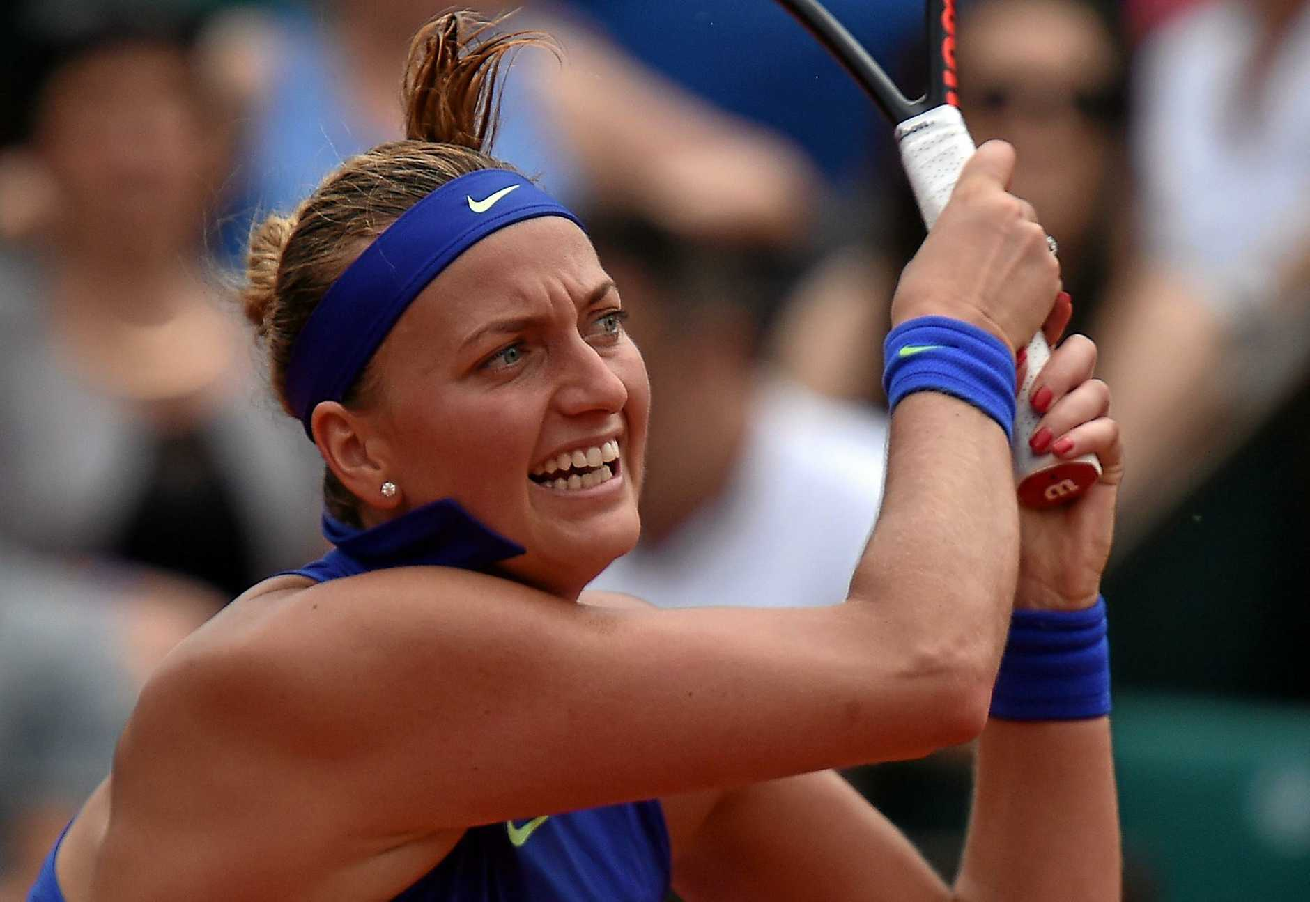 BELIEF: Petra Kvitova made a winning grand slam return after being stabbed in the hand last December.