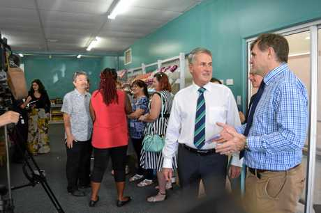 PLENTY OF PEOPLE: A big turnout at the food centre's official opening on Monday.