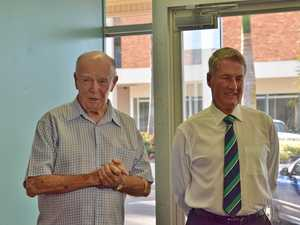 NEW STORE: Anglicare committee member John Langford introduces Mayor Greg Williamson at the Low Cost Food Assist Centre's official opening on Monday.