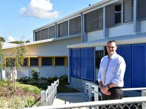 EXPANSION: Calliope State School principal Jeremy Godden in front of the school's new administration and student building.