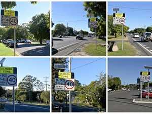 Light shone on school zone sign mystery