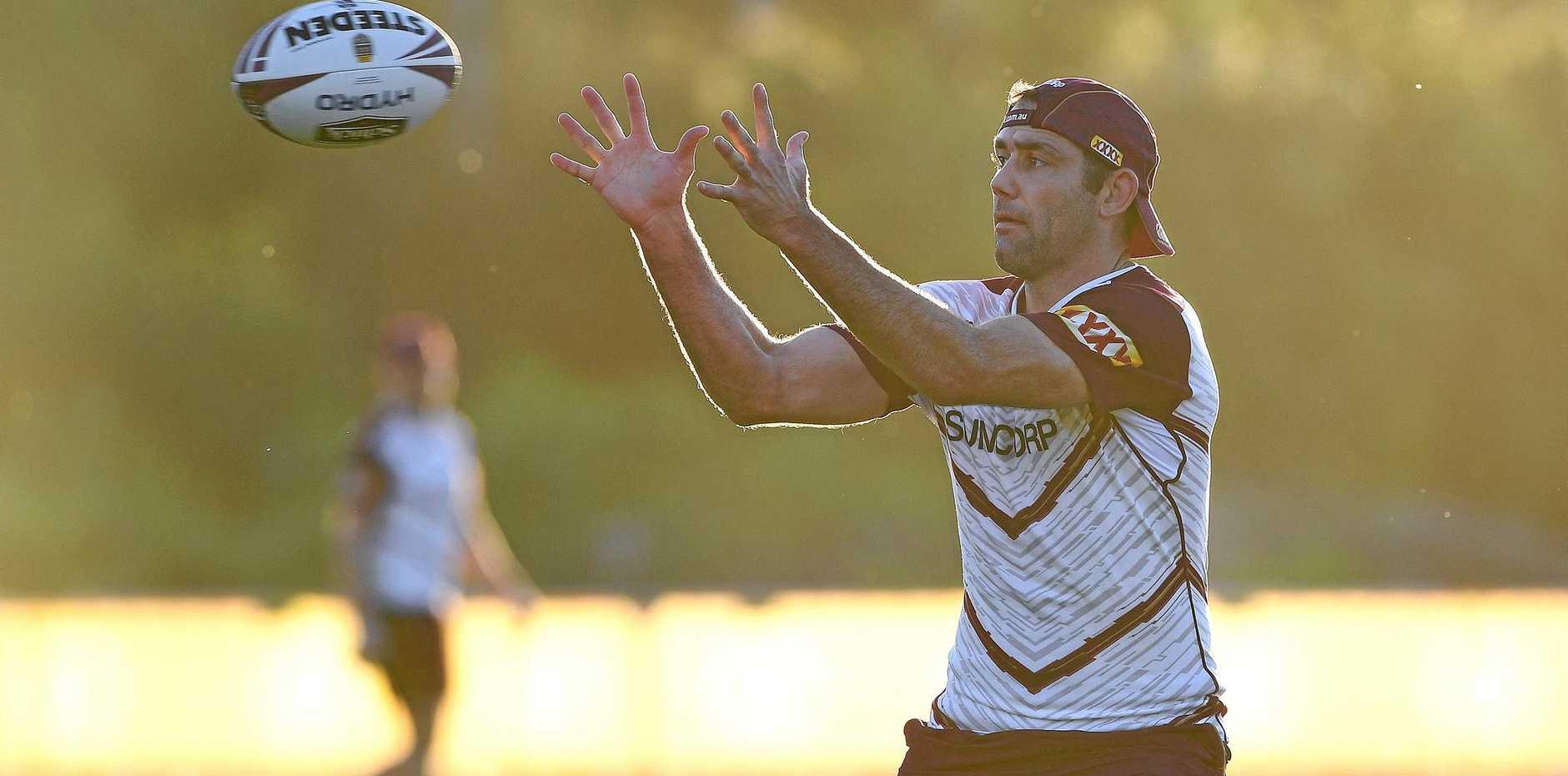 WON'T CHANGE MIND: Cameron Smith at Queensland State of Origin team training.