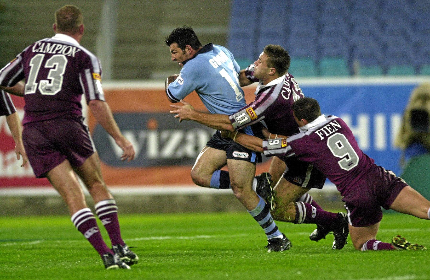 NSW's Ryan Girdler in action for the Blues during the 2001 series.