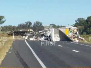 Three dead, tanker driver airlifted to Toowoomba from smash