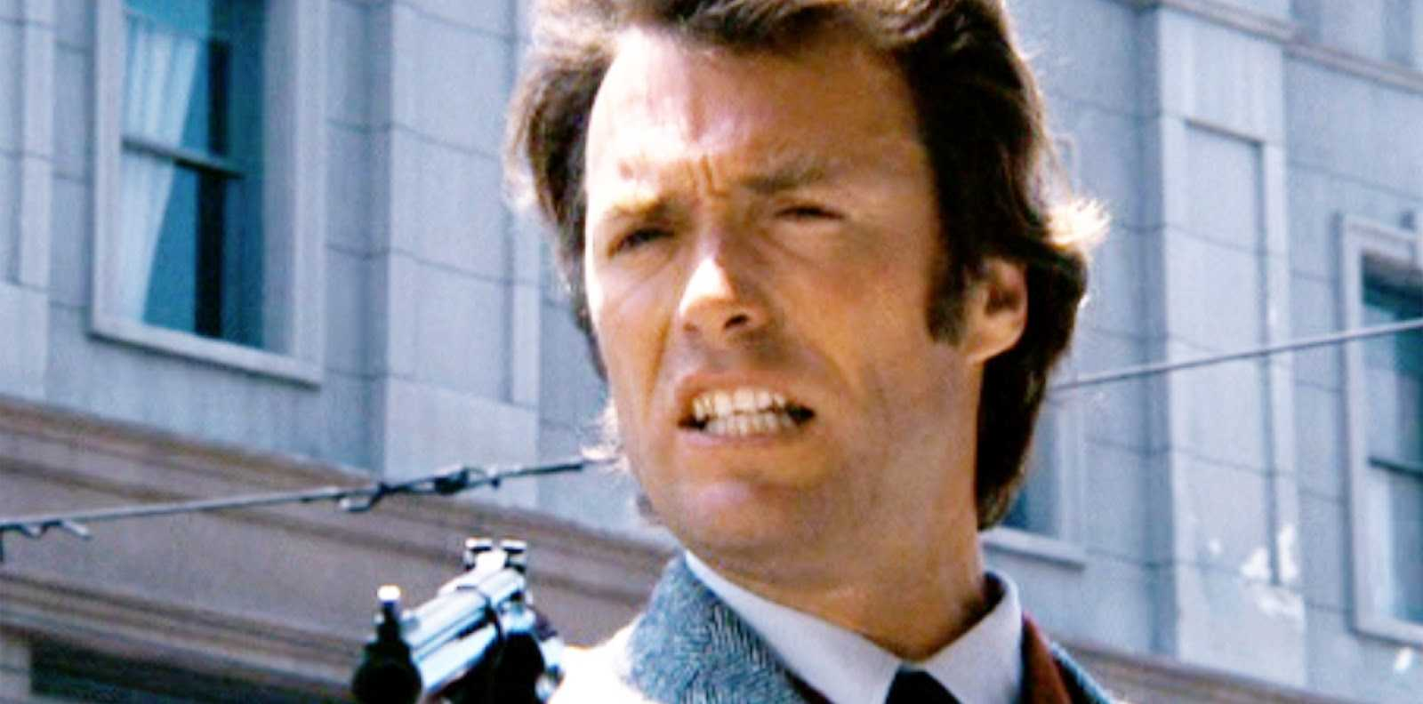 MAKE MY DAY: Clint Eastwood Inspector Harry Callahan in the Dirty Harry movie series. Copyright Warner Bros. Inc. and the Malpaso Company.