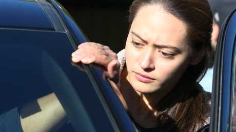 Eleanor Whitman seen outside Schapelle Corby's mum Rosaleigh Rose's house in Loganlea.