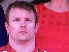 Kimi Raikkonen's awkward podium moment