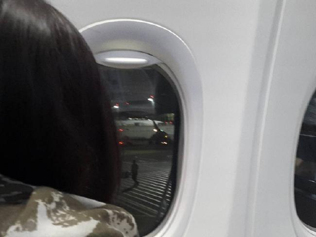 Instagram photo of Schapelle Corby on board a Malindo flight to Brisbane after being deported from Bali.