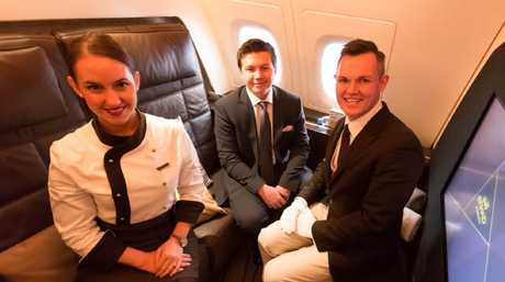 Zac George, 17, flying in style with Etihad.