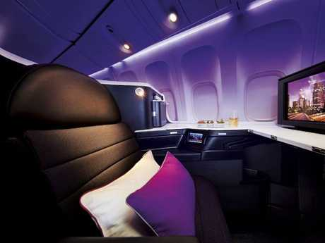 Flying in Virgin Australia's The Business is a lot more affordable with frequent flyer points.