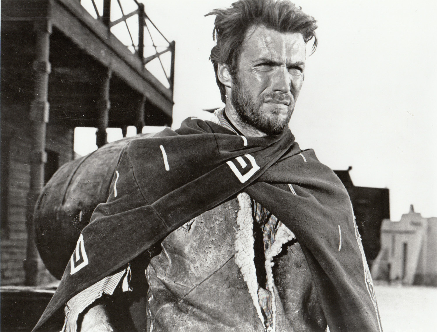 BIRTHDAY MAN: Clint Eastwood as The Man with No Name in A Fistful of Dollars (1964).