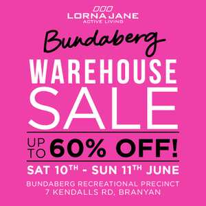 d57952395c Lorna Jane WAREHOUSE SALE back is finally here - UP TO 60% OFF activewear