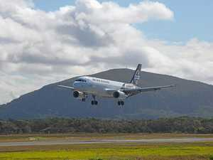IN BOUND: Air New Zealand landing at Sunshine Coast Airport.