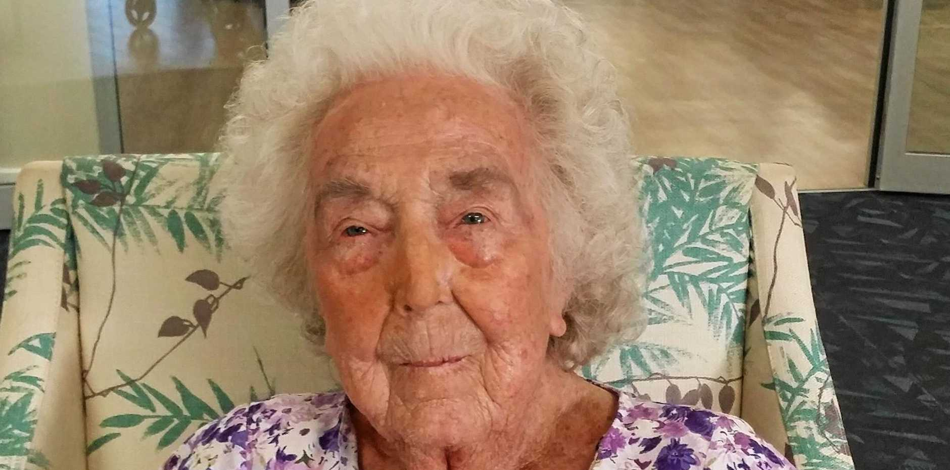READY FOR ANYTHING: Iris Kent giving love advice at age 100.